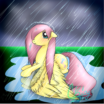 Damp Fluttershy by Pinkie321Pie