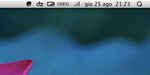Menubar Icons - OSX Mountain Lion 10.8.2 by iAndrew
