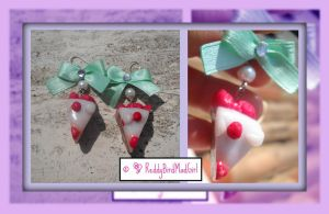 Strawberry Set_Earrings by ReddyBirdMadGirl