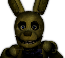 Unwithered Springtrap by GoldenNove