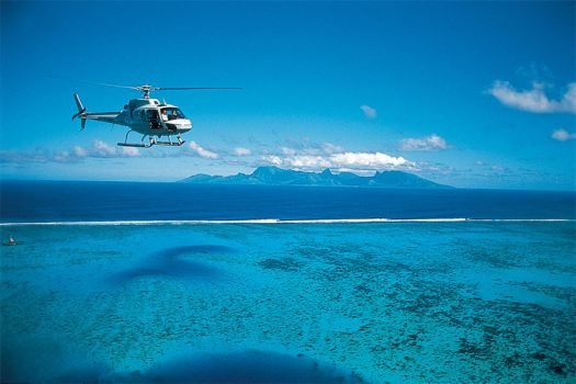 TH Helicopter over Moorea tourismboard by giantmonster77