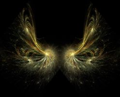 Fractal wings 2 by Kittyd-Stock