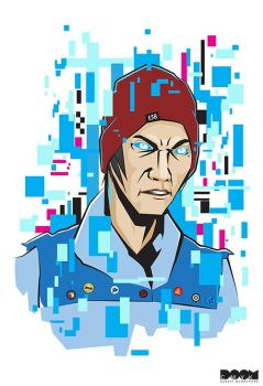 Delsin Rowe Infamous Second Son by DoomCMYK