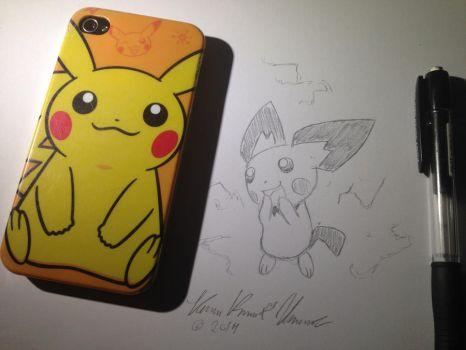 Pikachu Iphone by Admiral-Kevin