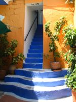 Stairs washed in color... by Annurgaia