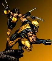 Wolverine and X-23 in MC by GracieKane