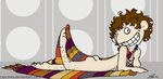 Fourth Doctor pin-up by caycowa