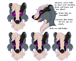 Vodka Fursuit Head Reference by Caliander