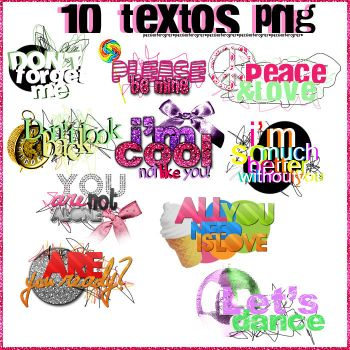 + 10 textos png' by PassionForCyrus