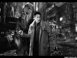 Chewie and Deckard by Rabittooth