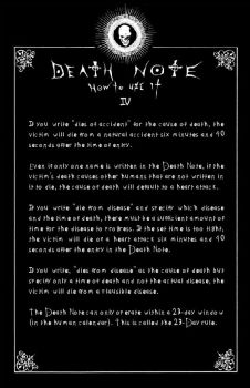 Deathnote Rules - page 4 by deathNote-club
