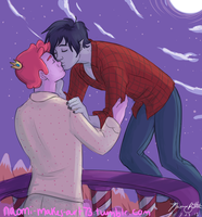 Stealing Kisses in the Night by naomi-makes-art73