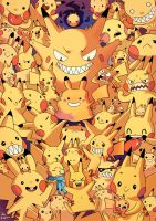 Full of Pikachus - Collab with Pikila by Willow-San