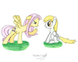 Fluttershy and Derpy by UlyssesGrant