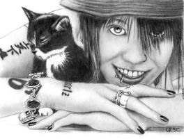 Miyavi with Kitten by SpiritWolf19