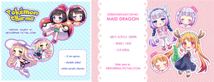RE-STOCKED PKM and Maid Dragon charms