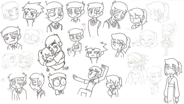Nina and G.Jack Doodles 2 by Ethemy