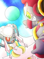 Mega Diancie Playing With Hoopa