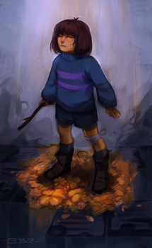 Frisk and golden flowers by Warallin