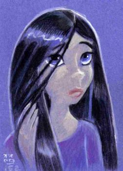 Violet Parr Blue Velvet card by LEXLOTHOR