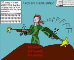 jokeart: playing BF3 by simoloita