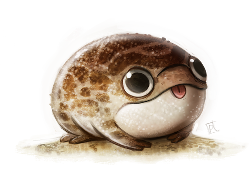 Daily Paint #670 - Desert Frog Quickie by Cryptid-Creations