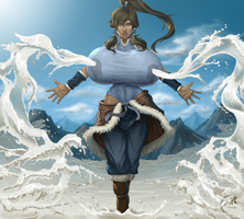 Korra the milk bender by mangrowing