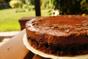 Chocolate Mousse Cake by Power-Barbie