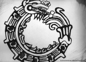 Aztec circle of life-Dragon by bishonenlover