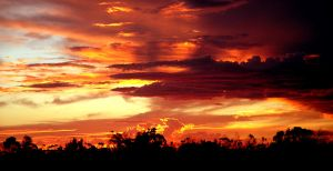 Red Dust Sunset by ThatHatChick