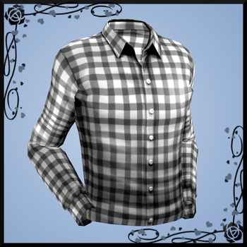Plaid Dress Shirt (+ plain textures) DOWNLOAD by Reseliee