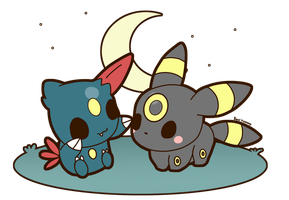Umbreon and Sneasel