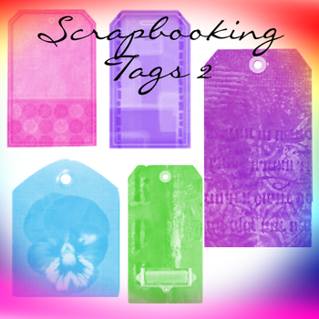 Scrapbooking Tags 2 by Saphiira-Stock
