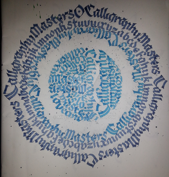 Calligraphy Masters Calligraphy Calligram by Milenist