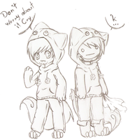 Pewdie and Cry Bloody Trapland  sketch by DeerKitten