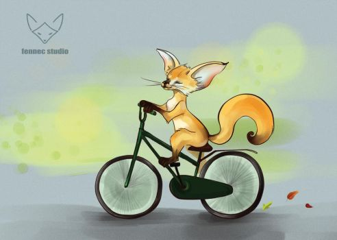 Bicycle Card Print by 0rigano