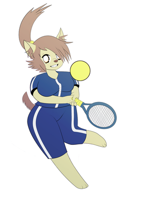 Tennis Terrier by YaoiMeowmaster