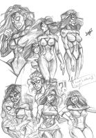 Spider-Woman Sketches by HIIVolt-07