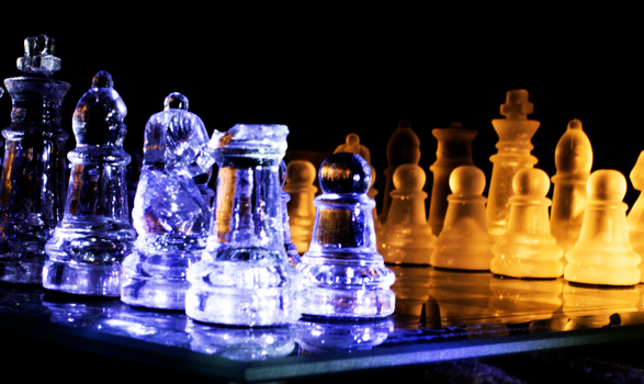 Glass Chess Set 1 by Bluest-Rose