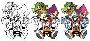 Inks-to-Colors Chaotix by herms85