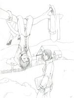 Upside-Down - Lineart by Tigryph