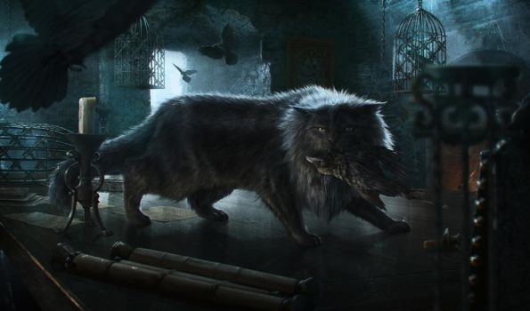 Game of Thrones Tournament (Spain) Balerion(cat) by JordiGart