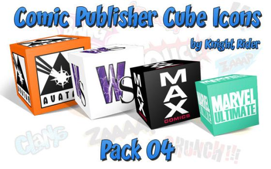 Comic Publisher Cube Icons-04 by KnightRider-SQ
