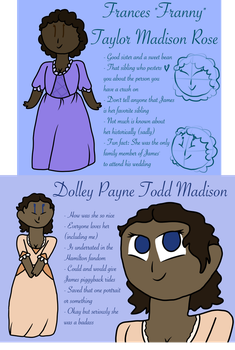 Hamilfied Dolley and Franny Madison by BananaNerd