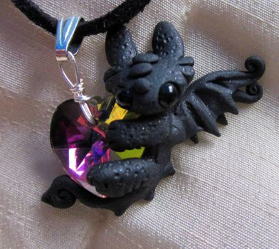 dark pink MBH necklace by carmendee