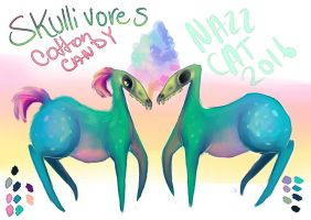 Skullivore|Cotton Candy ADOPT OPEN by NazzCat