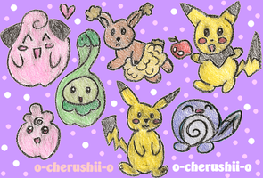 Crayon Pokemon by O-Cherushii-O