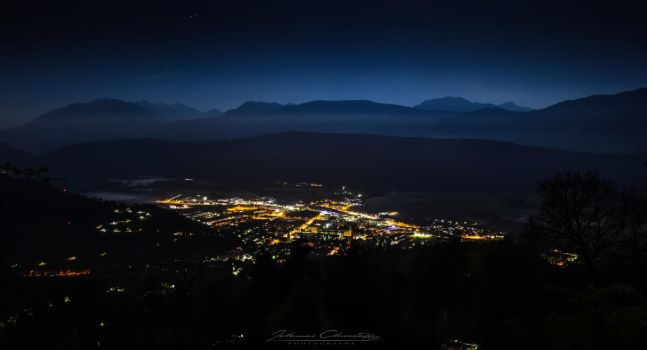 Hometown at Night by Hauns