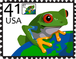 Frog Stamp by stuffed