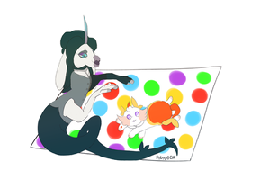 Agatha and Tashi twister! by Rybyg